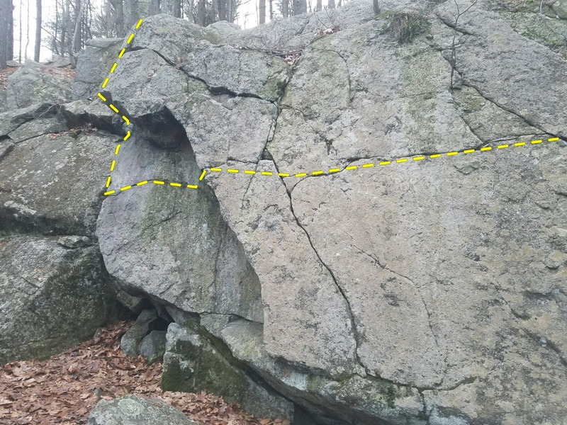 The line, the start is not viewable. The start is the far right part of this crack.