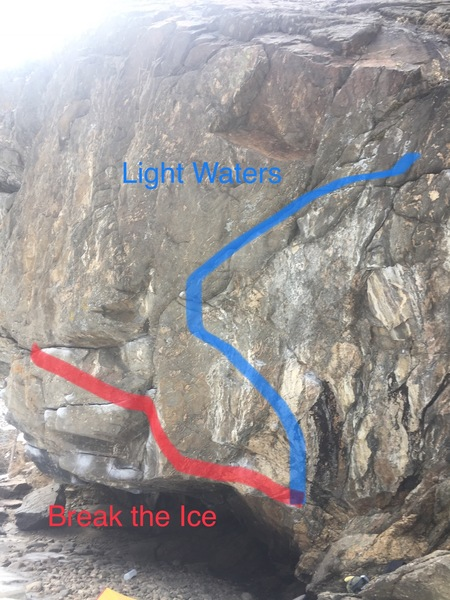 Light Waters is the blue line in the photo.