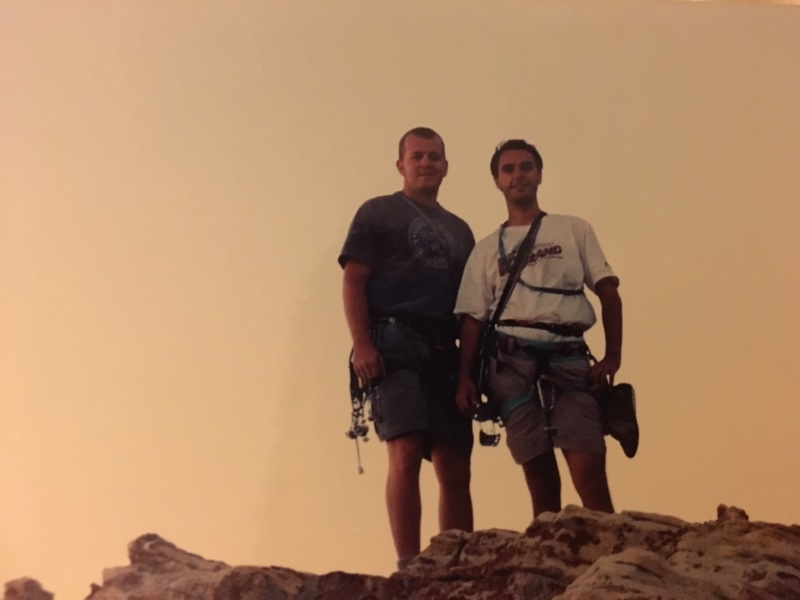Justin and me on the top of Frogland