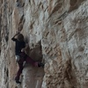 Chloe at the crux - using one method of solving the very fun and perplexing sequence.