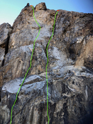 Right Side of White Streaked Face (Routes from LEFT TO RIGHT)
