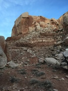 Breakfast Buttress from the canyon floor