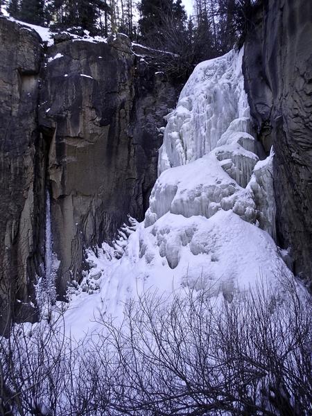 South Clear Creek Falls, 1/28/18.