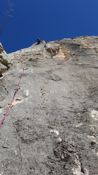 Zeppelin is definitely a gift that keeps giving. Pitch 8 technical face climbing in a setting that can't be beat.