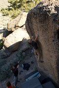 Rock Climbing Photo: TR sticking the mono