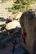 Rock Climbing Photo: LR reaching to the xenolith pinch