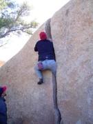 Rock Climbing Photo: Sean demonstrates the old school beta