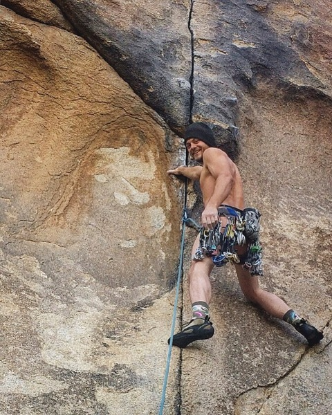 Naked send for my 100th trad lead in J Tree haha