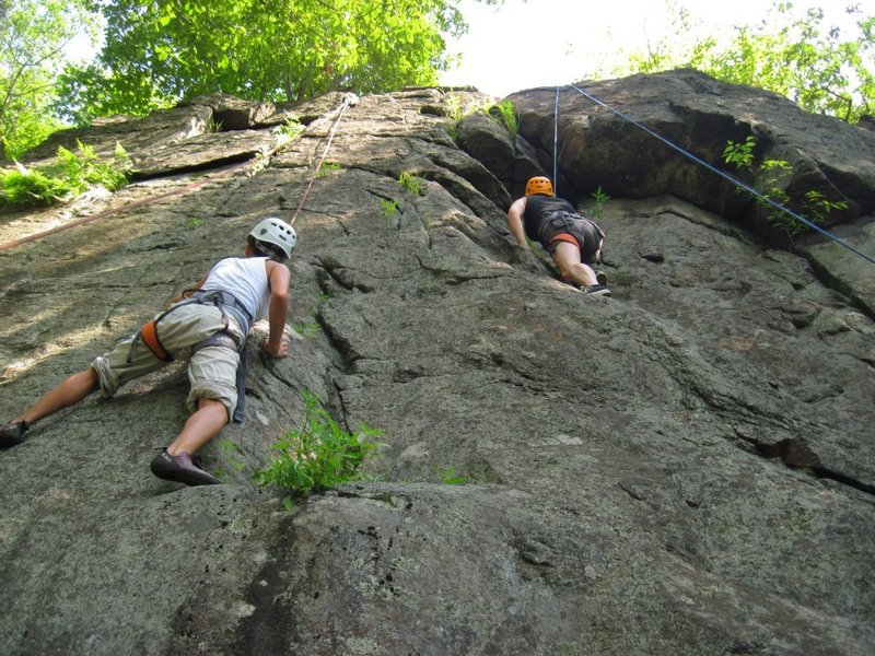 Clients on 2 Lead Wall routes.