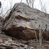 Chipper on the Overhang Boulder