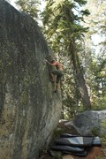 Rock Climbing Photo: Getting high on the DGriff