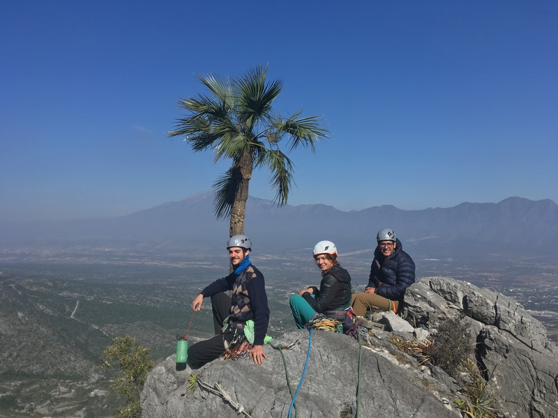 Marino, Emily, and Marco atop Estrellita. 3 hours from valley to summit.