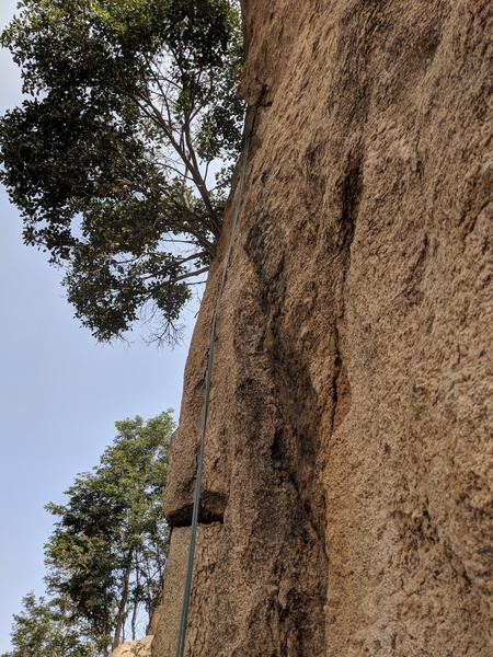 The line below the tree along the arete is Indian Grit