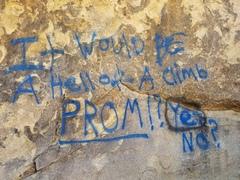 (Climber?) graffiti on the Tombstones.