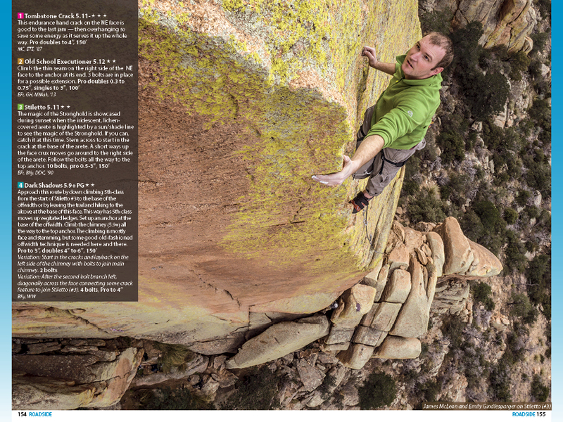 A photo angle that makes you want to get on this climb. www.cochiseclimbing.com