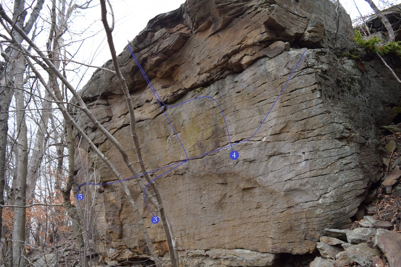 Seamstress V5 on the Main Boulder