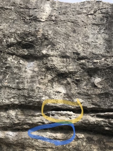 Starting holds (low start in blue)