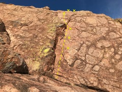 Rock Climbing Photo: Turkey Hooks four bolts to a two bolt anchor.