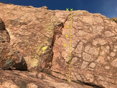 Rock Climbing Photo: Butterfingers three bolts to a two bolt anchor.  I...