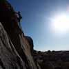 Soloing Mojave Green Arete