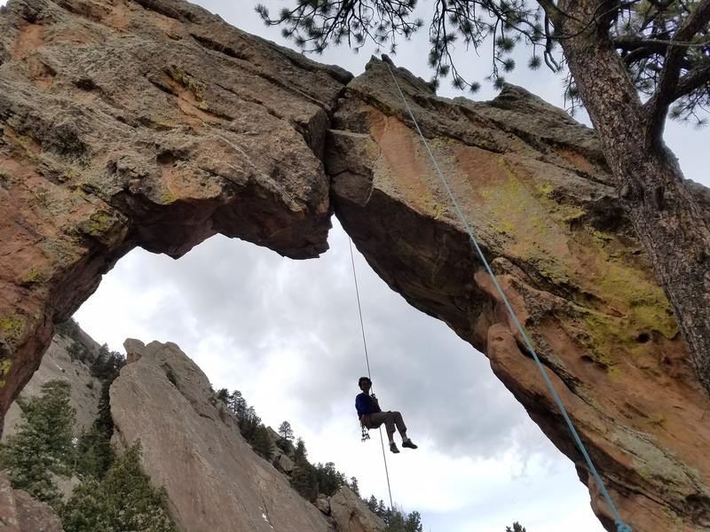 Rappelling Royal Arch.