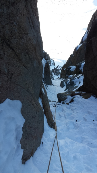 Looking down from the top of pitch 5.