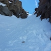 Final snow gully to the summit.