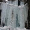 Two tier ice first to the right of the falls