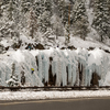 Road side ice routes at the Ouray Ice Park!