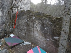 Boulder in the main 385 area