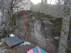 The main boulder in the 385 area