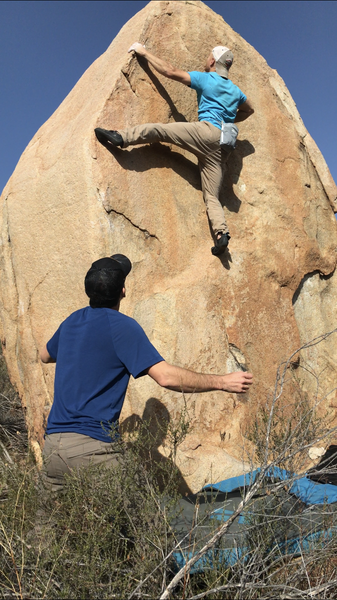 Easier topout after the balancy crux
