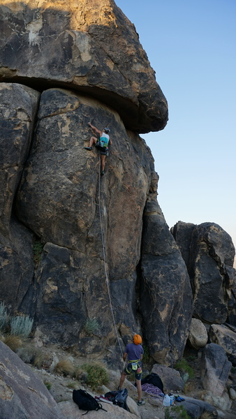 Jeff Si on on 5.10b Must Face Vader, belayed by Brian Caballero.