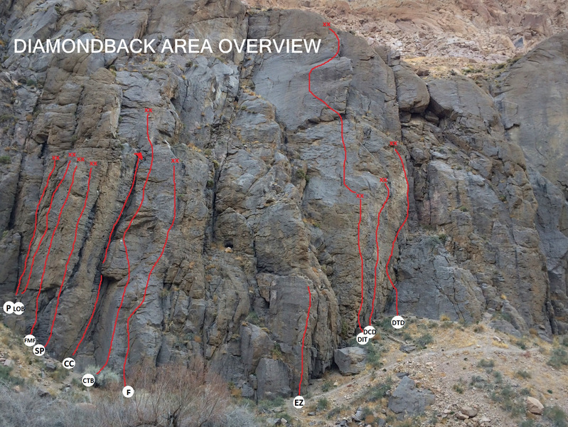 Route lines and overview for the Diamondback area.