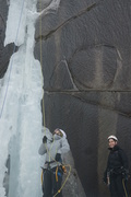 Brandon and Marcy at the base of the climb 2/11/2018