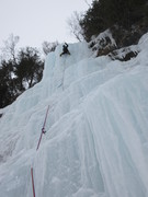 Chris McElhenny cruising the steep headwall finish