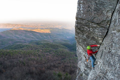 Rock Climbing Photo: 2nd pitch exposed undercling section