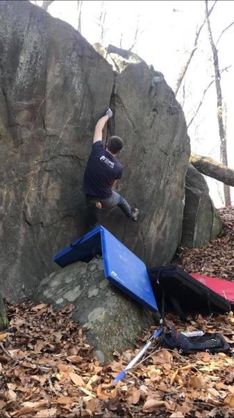 Me climbing Super Crack
