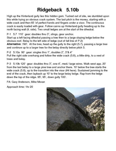 Ridgeback topo