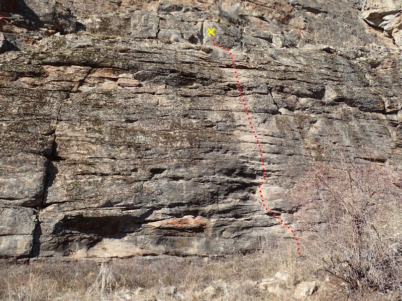 Lower middle face (of the Lower Middle Wall) topo