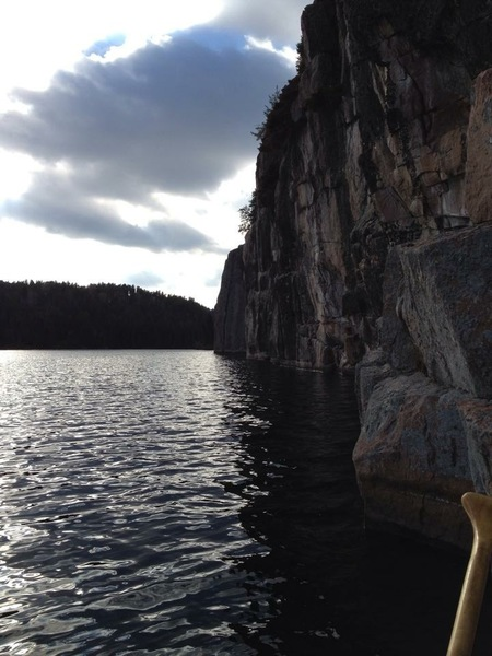 One of many lakeside cliffs