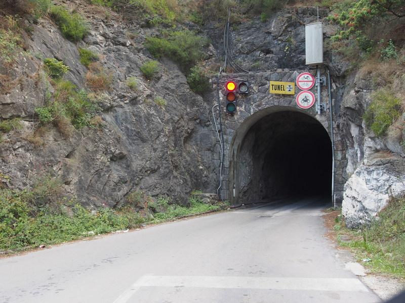 One-Way, One-lane, 1 1/2 km-long tunnel on the way to Sveta Nedilja