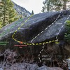 The Northwest face of the Troubled Waters boulder.