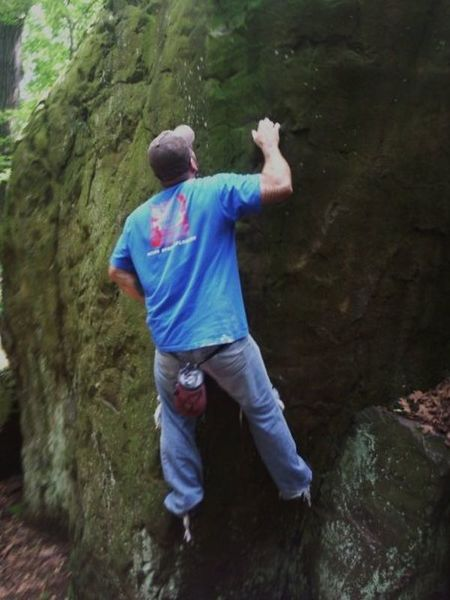 Joey Vulpis on the lower boulders circa 2009.