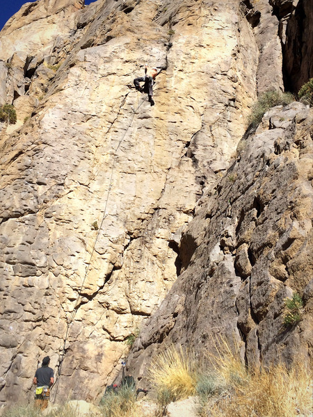 Marty Lewis heading into the second crux.