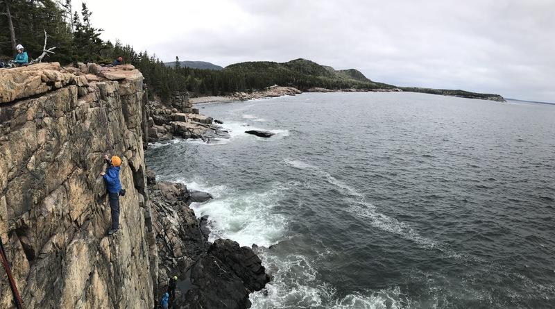 Spring climbing @ Otter Cliffs