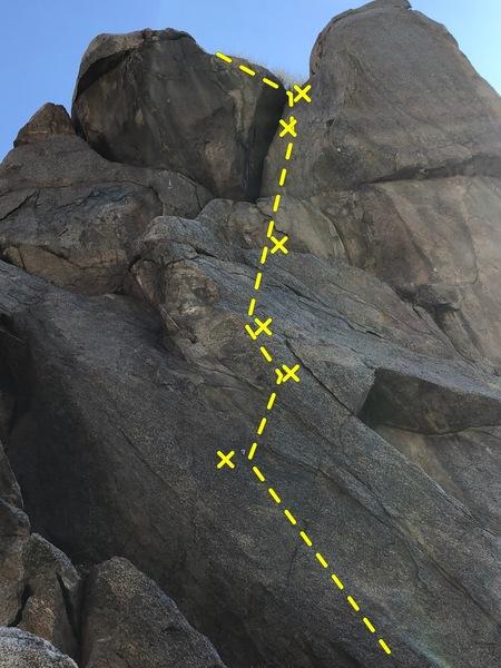 Start on-top of a boulder.