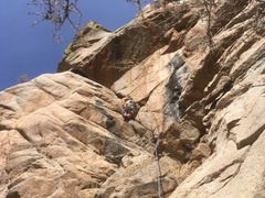 Meghan Curry leading the crack section of P1.