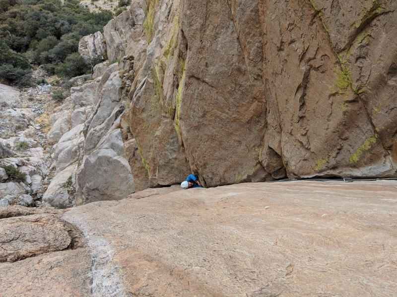 How to climb pitch 1 in a down jacket
