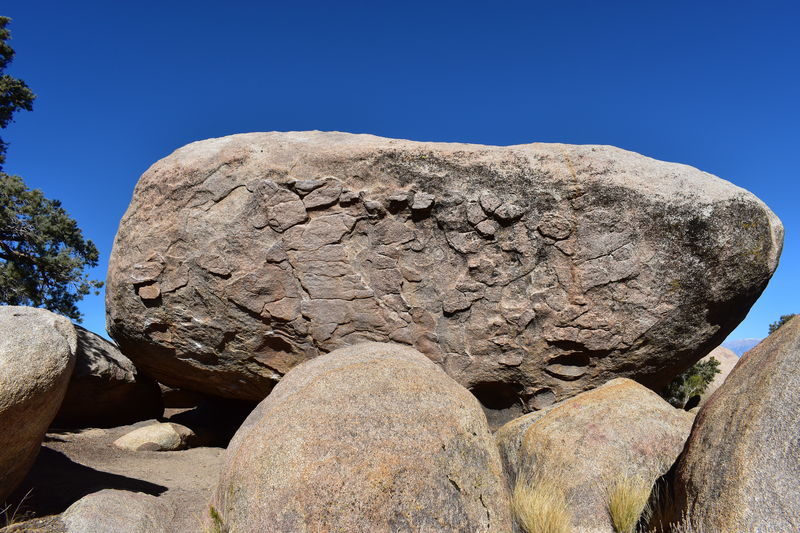 South West face of the boulder.